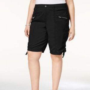NWT Style & Co Women's Cargo Shorts NAVY BLUE